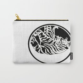Tiger Tattoo - Black Carry-All Pouch