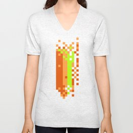 Link pixel scramble Unisex V-Neck