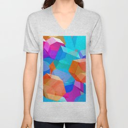 Sky of Cubes Unisex V-Neck