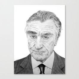 DeNiro Portrait Canvas Print