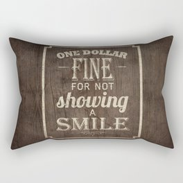 One Dollar Fine Rectangular Pillow