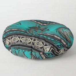 Horse Nation (Aqua) Floor Pillow