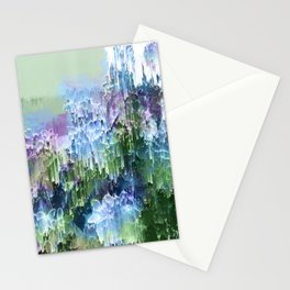 Wild Nature Glitch - Blue, Green, Ultra Violet #nature #homedecor Stationery Cards