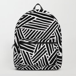 Abstract black & white Lines and Triangles Pattern - Mix and Match with Simplicity of Life Backpack