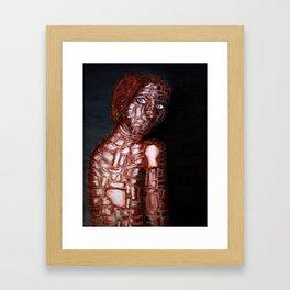 Girl of Bricks Framed Art Print