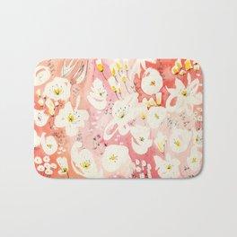 Spring Field in Crimson Peach Bath Mat