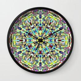 Beautiful Chrystal Glass Mandala Wall Clock