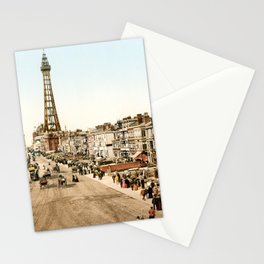 The Promenade at Blackpool, Lancashire, England 1898 Stationery Cards
