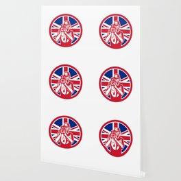 British Cameraman Union Jack Flag Icon Wallpaper