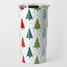 Christmas Tree holiday dots snow polka dot minimal modern geometric christmas decor design Travel Mug