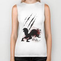 bad wolf Biker Tanks featuring Bad wolf by Halopromise