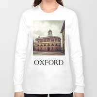 theater Long Sleeve T-shirts featuring Oxford: Sheldonian Theater by Solar Designs