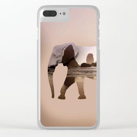 Zen elephant Clear iPhone Case