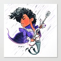 prince Canvas Prints featuring Prince by JFineOriginal