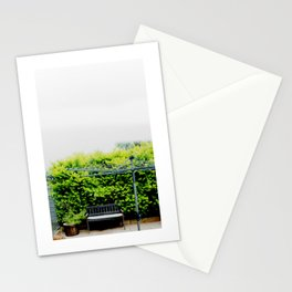 Bench in Overcast Stationery Cards