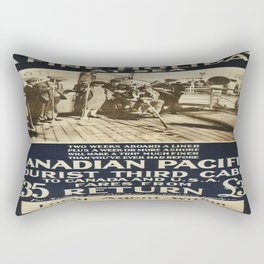Vintage poster - Canadian Pacific Rectangular Pillow