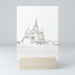 Saint Basil's Cathedral (on white) Mini Art Print