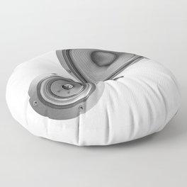 Subwoofer Speaker on white Floor Pillow