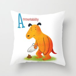 Accountability Throw Pillow