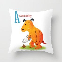 Accountability Throw Pillow