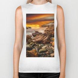 Rhoscolyn Coastline Sunset Biker Tank