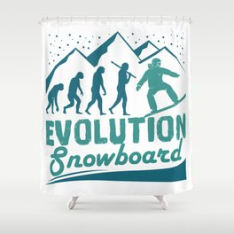 Evolution Snowboard Shower Curtain