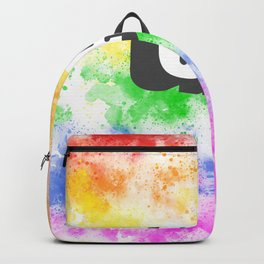 LGBT color in watercolor with the word gay in 3D Backpack