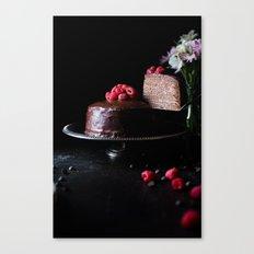 chocolate cake #decor #buyart #society6 Canvas Print