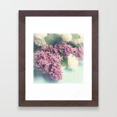 lilacs on blue Framed Art Print