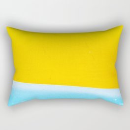 Sea & Sand Watercolor painting Abstract Rectangular Pillow