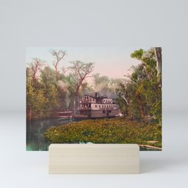 Steamboat On The Ocklawaha - Florida - 1902 Photochrom Mini Art Print