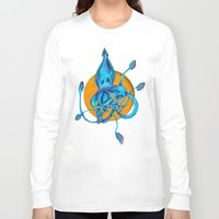 squid Long Sleeve T-shirts featuring Squid by Ruth Wels