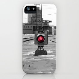 Train Track Signal Light iPhone Case