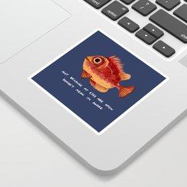 Not Awake Fish Sticker