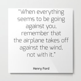 Airplane takes off against the wind | Henry Ford Metal Print