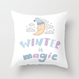 Winter is magic Throw Pillow