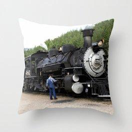 Stop at the Rockwood Depot Throw Pillow