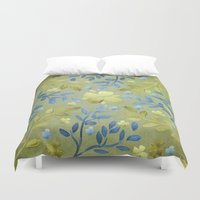 olivia joy Duvet Covers featuring Olivia by Lisa Argyropoulos
