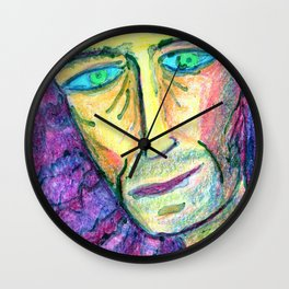 People with downcast look. Wall Clock