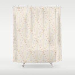 Gisela Geometric Line Pattern - Rainbow Shower Curtain