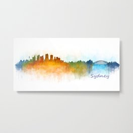 Sydney City Skyline Hq v3 Metal Print