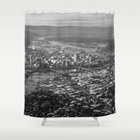 portland Shower Curtains featuring Portland by Erik Graham Photography