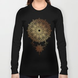 Mandala - Golden drop Long Sleeve T-shirt