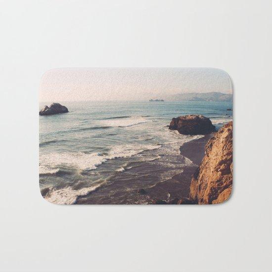 Vintage Ocean #landscape Bath Mat