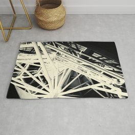 Spider Roof Struts Abstract Rug