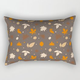 Autumn Leaves And Acorns Pattern Rectangular Pillow