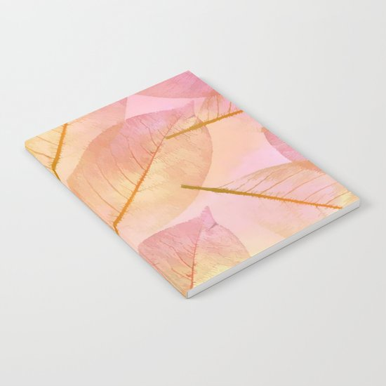 Pastel Fall Leaf Abstract Notebook