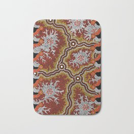 Aboriginal Art Authentic – Mountains Bath Mat