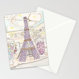 Eiffel Tower of French Macarons and Sweets in Paris  Stationery Cards