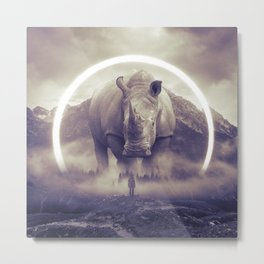 aegis II | rhino Metal Print